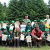 Schirmherr Andreas Kielingzeichnet im Nationalpark Eifel 22 Junior Ranger aus