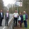 """Inbetriebnahme eines """"Lärmschutzdisplays"""" an der B266 beim Nationalpark-Ort Einruhr"""