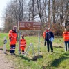 Straßenschilder weisen auf UNESCO Geopark hin